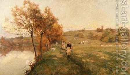 Meadows by the Avon by Alfred Parsons - Reproduction Oil Painting