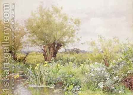 Near Shiplake by Alfred Parsons - Reproduction Oil Painting