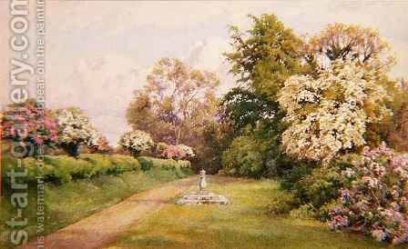 Sharcomb Garden by Alfred Parsons - Reproduction Oil Painting