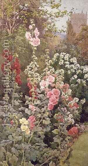 The Garden 2 by Alfred Parsons - Reproduction Oil Painting