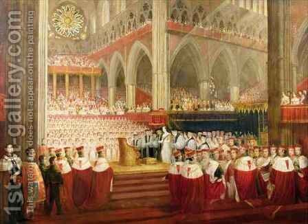 The Coronation of Queen Victoria, June 28th 1838 by Edmund Thomas Parris - Reproduction Oil Painting