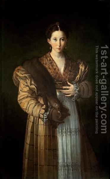 Portrait of Antea La Bella, 1535-37 by Girolamo Francesco Maria Mazzola (Parmigianino) - Reproduction Oil Painting
