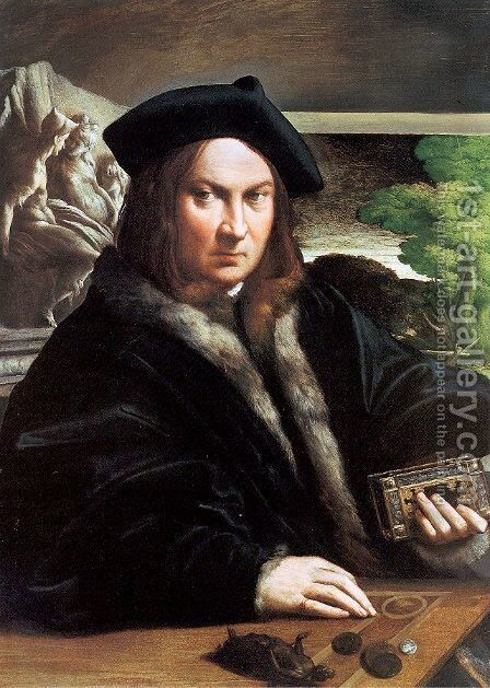 Portrait of a gentleman wearing a beret by Girolamo Francesco Maria Mazzola (Parmigianino) - Reproduction Oil Painting