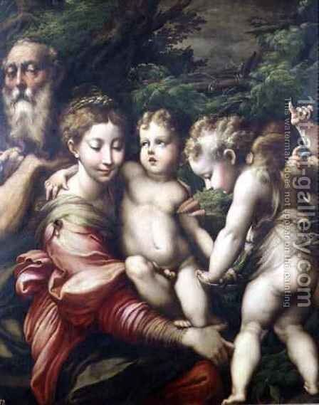 The Holy Family Rest on the Flight to Egypt 1524 by Girolamo Francesco Maria Mazzola (Parmigianino) - Reproduction Oil Painting