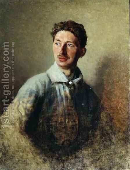 Portrait of the poet Sergey Gorodetsky 1884-1967 1909 by Ivan Kirillovich Parkhomenko - Reproduction Oil Painting