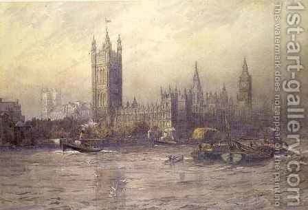 The Houses of Parliament by Maude Parker - Reproduction Oil Painting