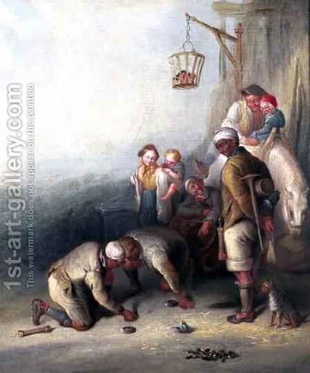 Pitmen Playing at Quoits 2 by Henry Perlee Parker - Reproduction Oil Painting