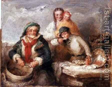 Sketch for Oysters, Young Sir by Henry Perlee Parker - Reproduction Oil Painting