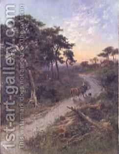 Evening on the Road to Sevenoaks by Henry Hillier Parker - Reproduction Oil Painting