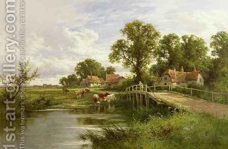 On the Thames near Marlow by Henry Hillier Parker - Reproduction Oil Painting
