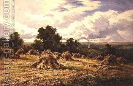 Harvested Field by Henry Hillier Parker - Reproduction Oil Painting