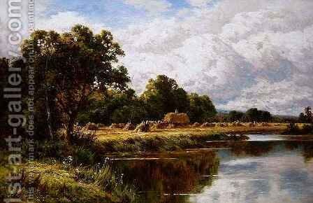 Harvesting, Pangbourne on Thames by Henry Hillier Parker - Reproduction Oil Painting