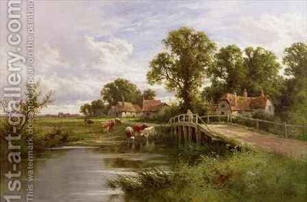 On the Thames near Marlow 2 by Henry Hillier Parker - Reproduction Oil Painting