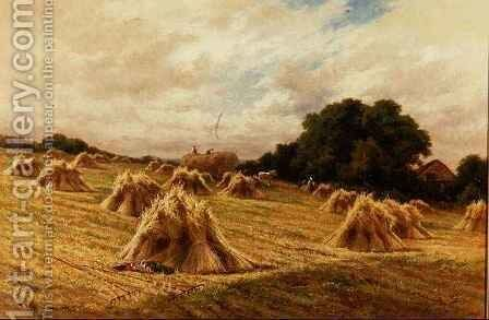 A Surrey Cornfield, near Reigate by Henry Hillier Parker - Reproduction Oil Painting