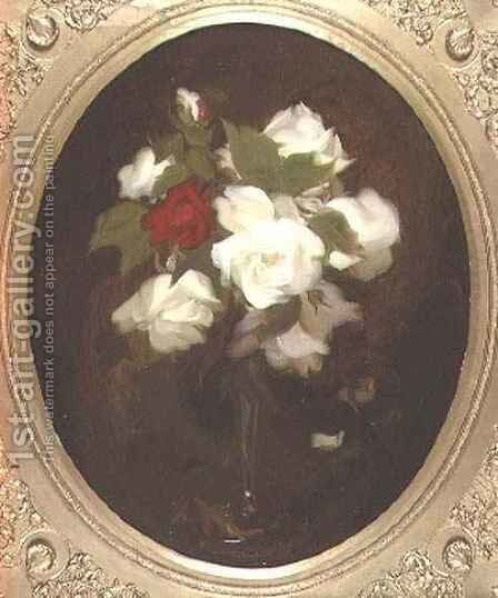 Still Life with Roses by James Stuart Park - Reproduction Oil Painting