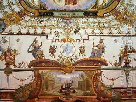 Ceiling panel from the Stanzino delle Matematiche by Giulio Parigi - Reproduction Oil Painting