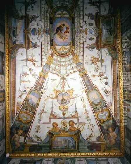 Ceiling panel from the Stanzino delle Matematiche 2 by Giulio Parigi - Reproduction Oil Painting