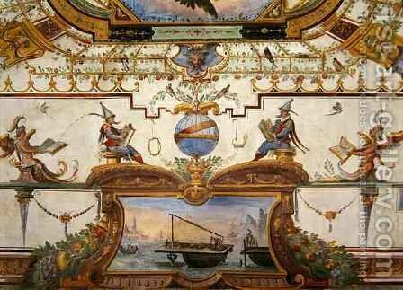 Ceiling panel from the Stanzino delle Matematiche 3 by Giulio Parigi - Reproduction Oil Painting