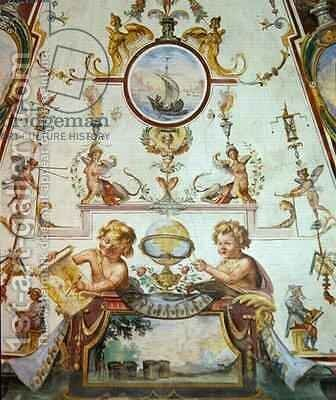 Ceiling panel from the Stanzino delle Matematiche 4 by Giulio Parigi - Reproduction Oil Painting