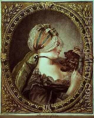 Provoking Fidelity engraved by Louis Marin Bonnet 1743-93, 1775 by (after) Parelle, M.A. - Reproduction Oil Painting