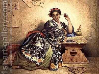 A Chinese Girl, c.1841-49 by Dominique Louis Papety - Reproduction Oil Painting