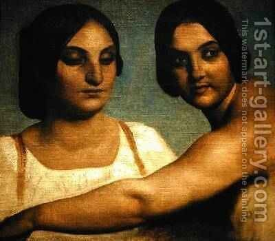Two Italian Women by Dominique Louis Papety - Reproduction Oil Painting