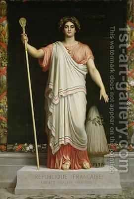 Allegory of the Republic, 1848 by Dominique Louis Papety - Reproduction Oil Painting