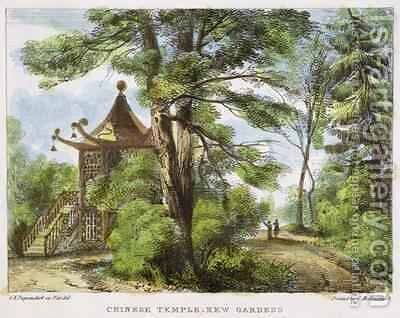 Chinese Temple, Kew Gardens, plate 13 from Kew Gardens A Series of Twenty-Four Drawings on Stone, engraved by Charles Hullmandel 1789-1850 published 1820 by (after) Papendiek, George Ernest - Reproduction Oil Painting