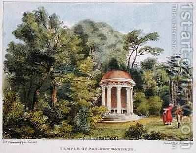 Temple of Pan, Kew Gardens, plate 12 from Kew Gardens A Series of Twenty-Four Drawings on Stone, engraved by Charles Hullmandel 1789-1850 published 1820 by (after) Papendiek, George Ernest - Reproduction Oil Painting