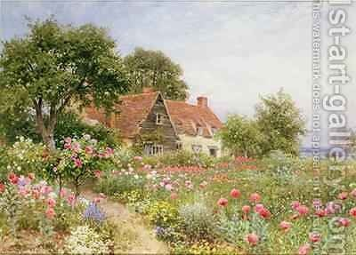 The Cottars Pride - A Cottage Garden by Harry Sutton Palmer - Reproduction Oil Painting