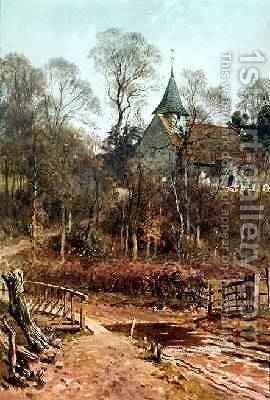 Round My House Pyrford Church, 1880-86 by Harry Sutton Palmer - Reproduction Oil Painting