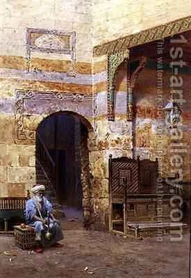 An Interior, Cairo by Harry Sutton Palmer - Reproduction Oil Painting