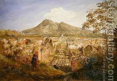 Pompeii, the Streets of Tombs by Hannah Palmer - Reproduction Oil Painting