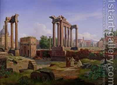 The Forum, Rome by Gustaf-Wilhelm Palm - Reproduction Oil Painting