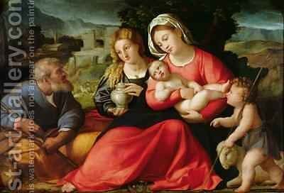 The Holy Family, c.1508-12 by Jacopo d'Antonio Negretti (see Palma Vecchio) - Reproduction Oil Painting