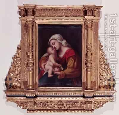 Madonna and Child by Jacopo d'Antonio Negretti (see Palma Vecchio) - Reproduction Oil Painting