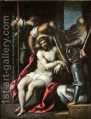 The Crowning with Thorns, before 1624 by Jacopo d'Antonio Negretti (see Palma Giovane) - Reproduction Oil Painting