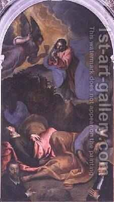 Christ in the Garden of Gethsemane by Jacopo d'Antonio Negretti (see Palma Giovane) - Reproduction Oil Painting