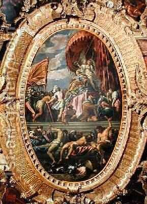 Venice Crowned by Victory by Jacopo d'Antonio Negretti (see Palma Giovane) - Reproduction Oil Painting