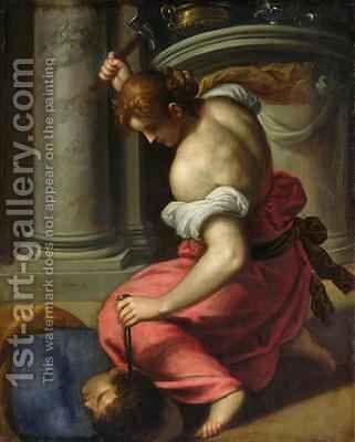 The Death of Sisera by Jacopo d'Antonio Negretti (see Palma Giovane) - Reproduction Oil Painting