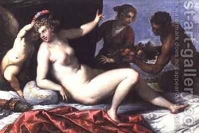 Offerings to Venus by Jacopo d'Antonio Negretti (see Palma Giovane) - Reproduction Oil Painting