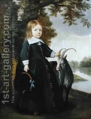 Child and Goat, 1655 by Anthonie Palamedesz. (Stevaerts, Stevens) - Reproduction Oil Painting