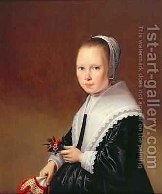 Portrait of a Girl by Anthonie Palamedesz. (Stevaerts, Stevens) - Reproduction Oil Painting