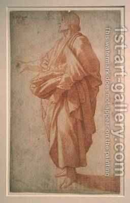 Study of a draped figure by Giovanni Battista Paggi - Reproduction Oil Painting
