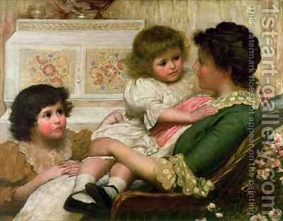 The Artists Wife and her Two Daughters by Henry Marriott Paget - Reproduction Oil Painting
