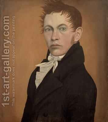 Portrait of a Man, c.1815 by Harlan Page - Reproduction Oil Painting