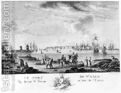 View of St. Malo by (after) Ozanne, Nicolas Marie - Reproduction Oil Painting