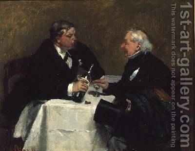 Refusing a Drink, 1876 by David Oyens - Reproduction Oil Painting