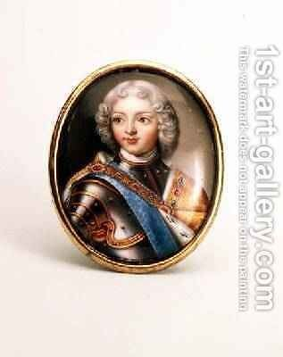 Portrait of Peter II, c.1727 by Andrei Grigorievich Ovsov - Reproduction Oil Painting