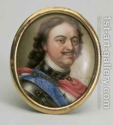 Portrait of Peter I, c.1720 by Andrei Grigorievich Ovsov - Reproduction Oil Painting